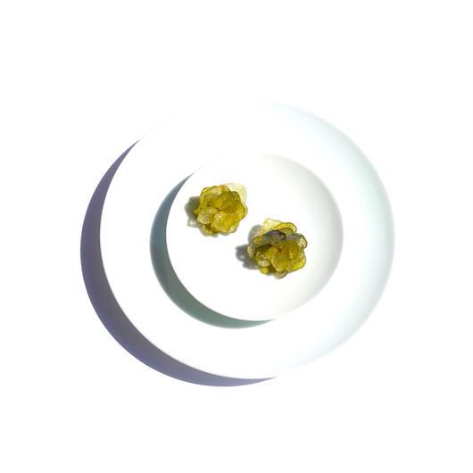 緑 紫陽花のイヤーカフ(イヤークリップ)