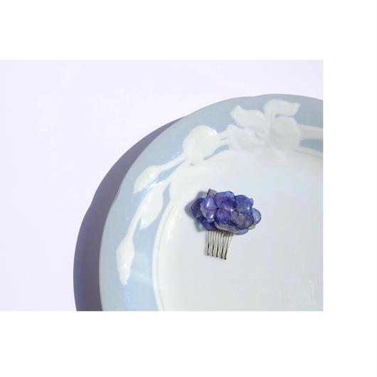 ブルー紫陽花ヘアコーム  (小)