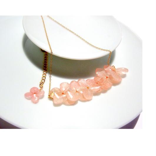 紫陽花(ピンク)ネックレス