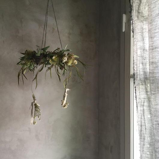 Hanging  Dried Flower 3Mix Wreath (ドライフラワーの3ミックス ハンギングリース)