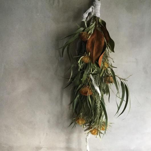 Dryandra & Eucalyptus Swag(ドライアンドラとユーカリのスワッグ)