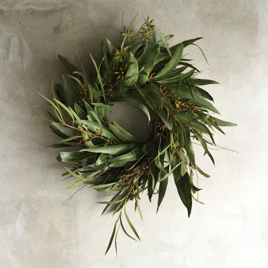 Dried Eucalyptus Green Wreath (ユーカリのグリーンリース)