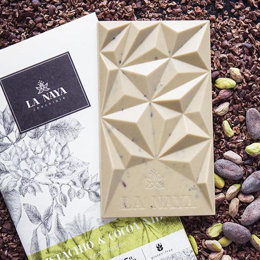 バーチ LA NAYA ホワイトチョコレート ピスタチオ&カカオニブ 80g