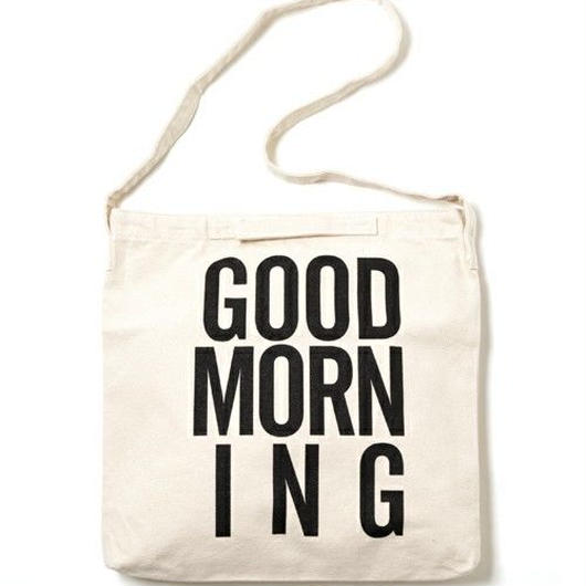 GOOD MORNING 2WAYBAG -WHITE-
