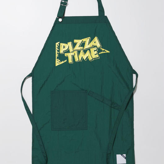 PIZZA TIME APRON-GREEN-