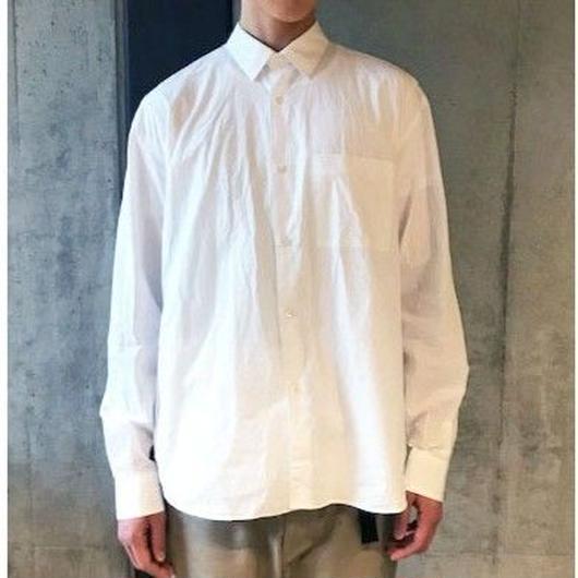 【NOEL】REGULAR COLLAR SHIRTS -WHITE-