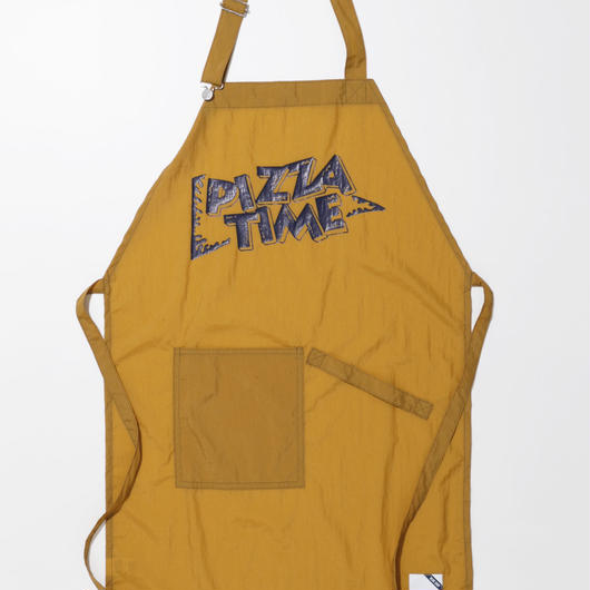 PIZZA TIME APRON-MUSTARD-