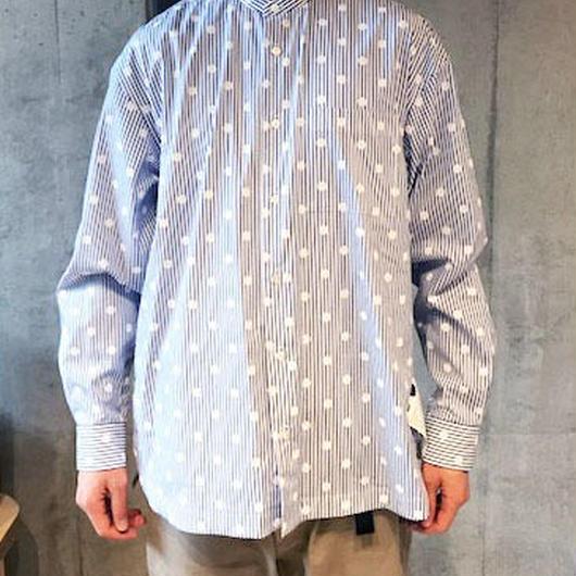 【BASUKIA】BAND COLLAR SHIRTS -SODA-