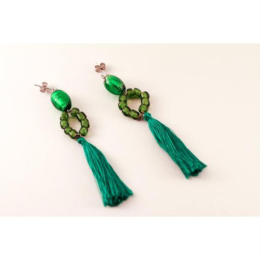 All Green! earring/オールグリーンなピアス