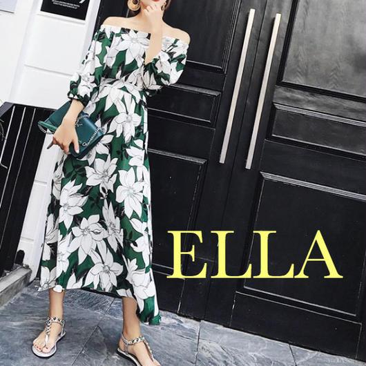 Off shoulder flower summer  dress