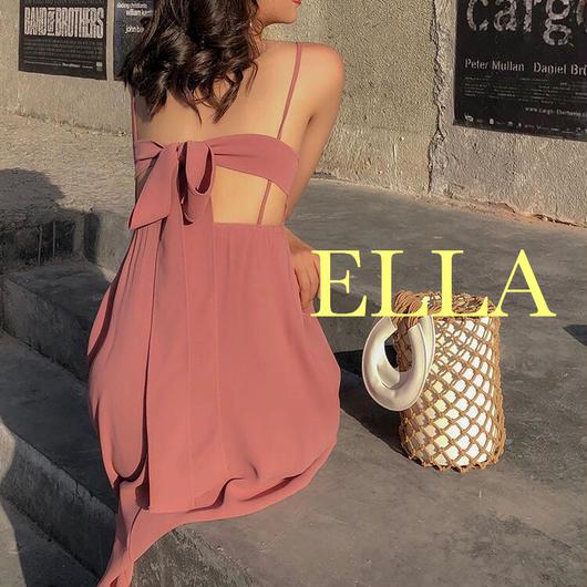 Back ribon summer dress