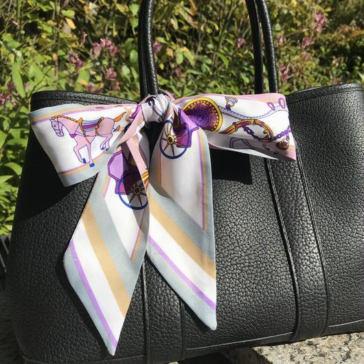 Bagスカーフ トゥイリー ホース ピンク