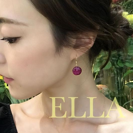 即納★アレルギーフリーglass pierced earrings