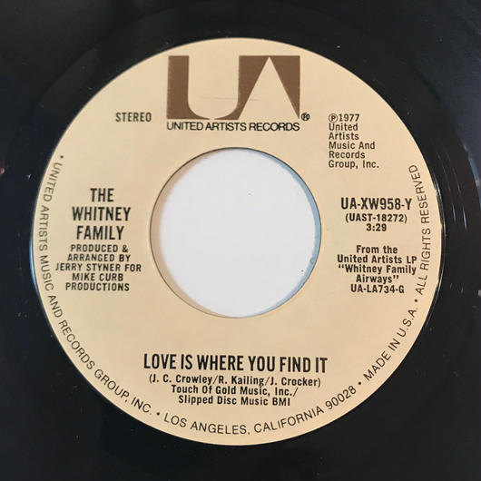 THE WHITNEY FAMILY:THERE'S A NEW WORLD COMIN'