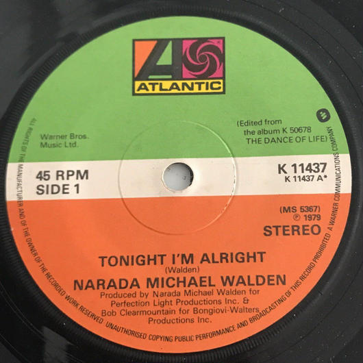 NARADA MAICHAEL WALDEN:TONIGHT I'M ALRIGHT