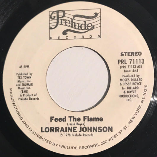 LORRAINE JOHNSON:FEED THE FLAME