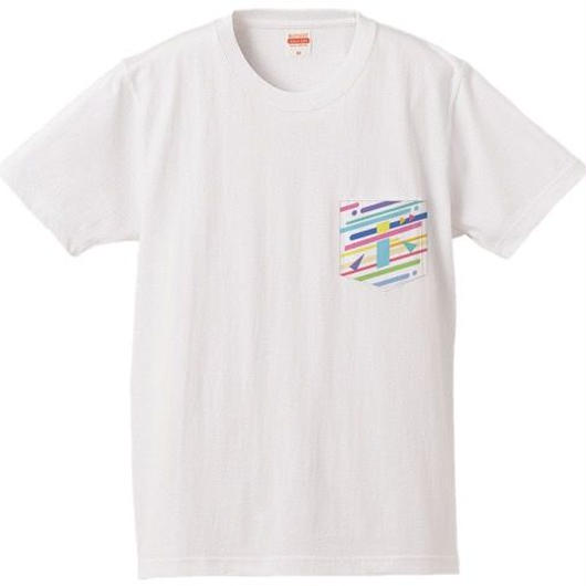 BOMI的ネオなサマーポケットTシャツ ホワイト