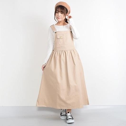 [1369op]ギャザー切替ジャンパースカート