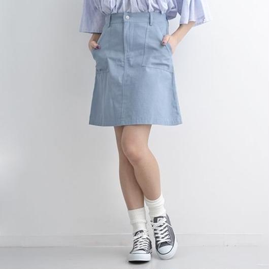 [1163sk]コットン台形ミニスカート
