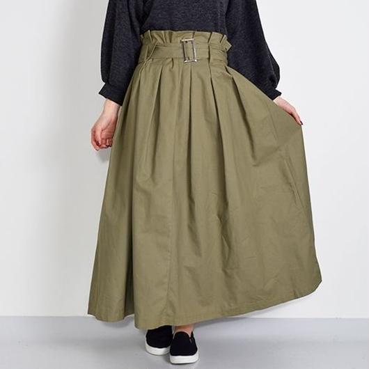 [0980sk]ベルトタックロングスカート