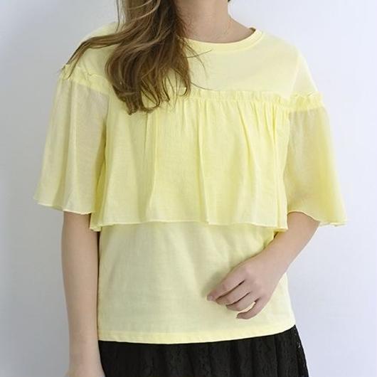 [1168tp]クレープフリルTシャツ