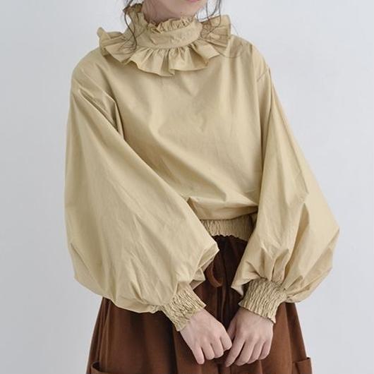 [1386tp]フリル襟バルーン袖ブラウス