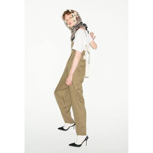 【予約商品】LEINWÄNDE /  Back Belted Jump Suits / KHAKI