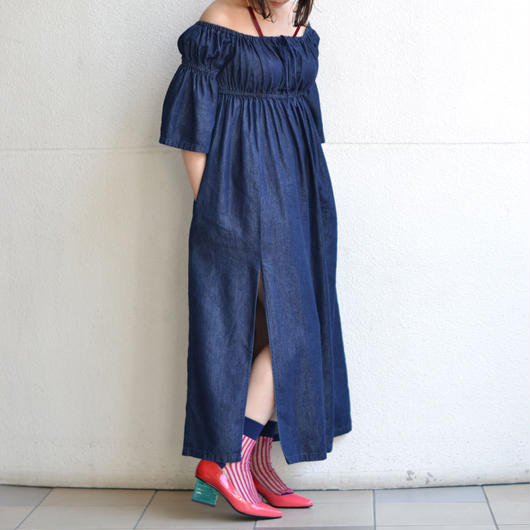 GOEN.J / DENIM SLIT DRESS