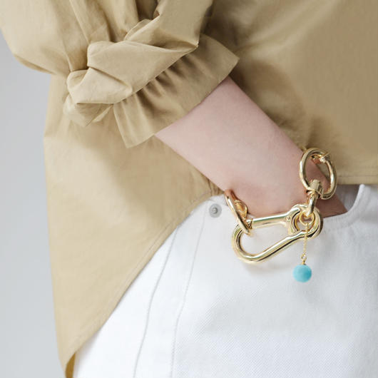 FAUX/real / METAL CHUNKY OVERSIZE CLOSURE BRACELET / GOLD