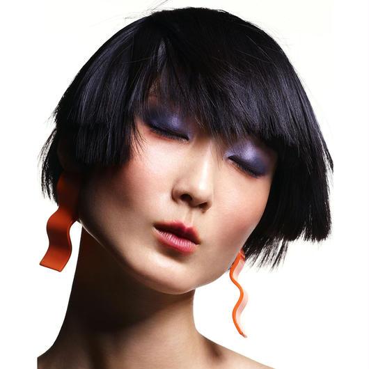 shiki / WAVE PIECES EARRINGS / ORANGE