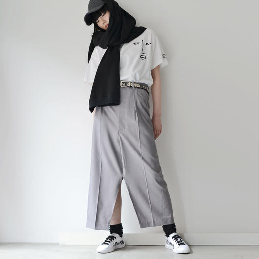 Metaphor… / PANTS SKIRT / LIGHT GRAY
