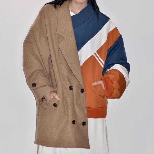 Metaphor... / Asymmetric Jacket Coat / BEIGE