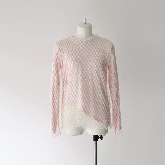 MARQUES ALMEIDA / JERSEY NET LONG SLEEVE TOP