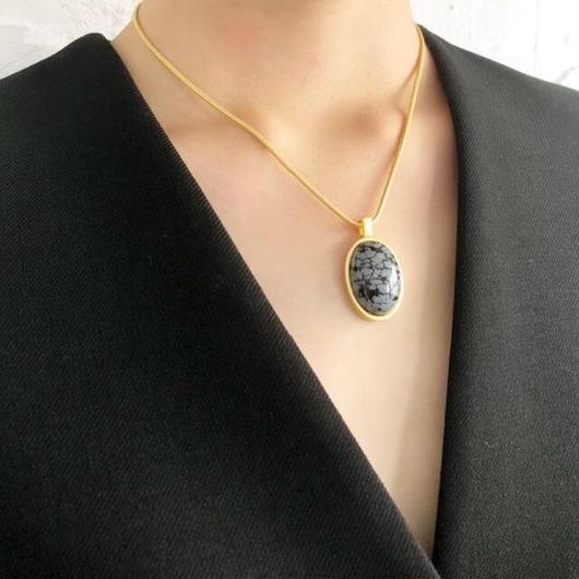 Shiki / 天然石 ネックレス / BLACK