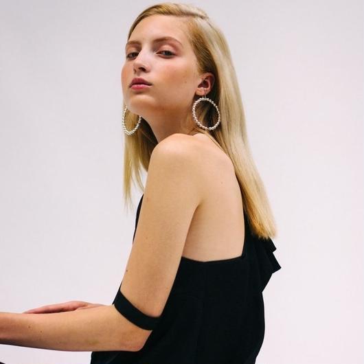 Saskia Diez / LIQUID HOOPS EARCUFF NO1 / SILVER