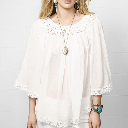 DENIM&SUPPLY ralph lauren Ruched Neckline Boho Top
