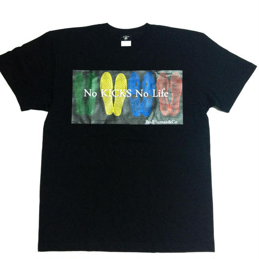 """No KICKS No Life""tee (BLK)"