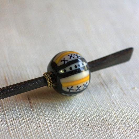 黒玉 萬紋 蜻蛉玉簪(とんぼ玉かんざし)