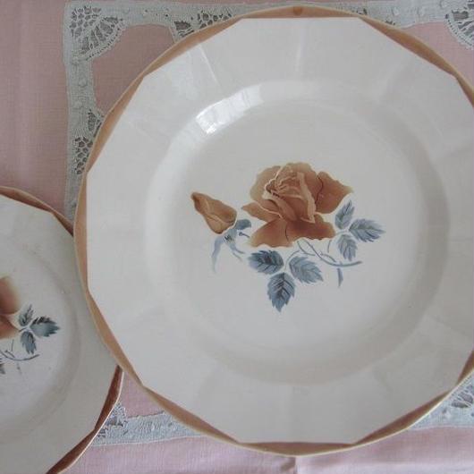 ディゴワン・サルグミンヌ窯薔薇モチーフ平皿(大)