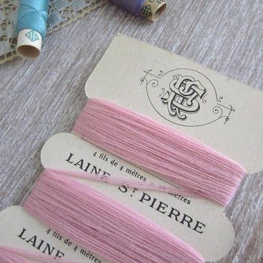 St.Pierreウールの糸巻き(ピンク)