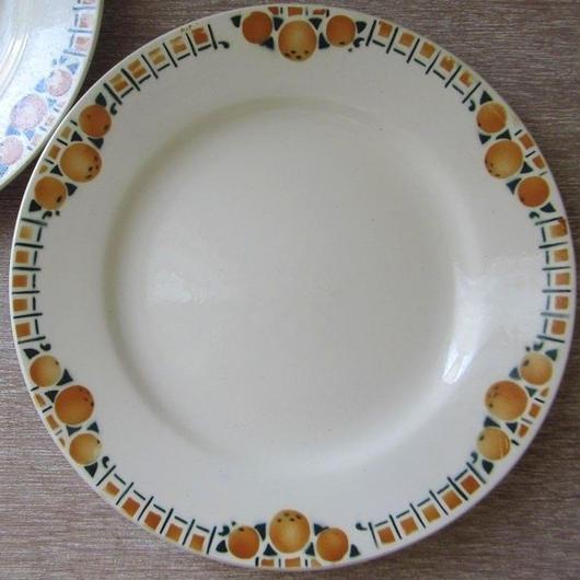 サンアマン窯オレンジ柄デザート皿F、I