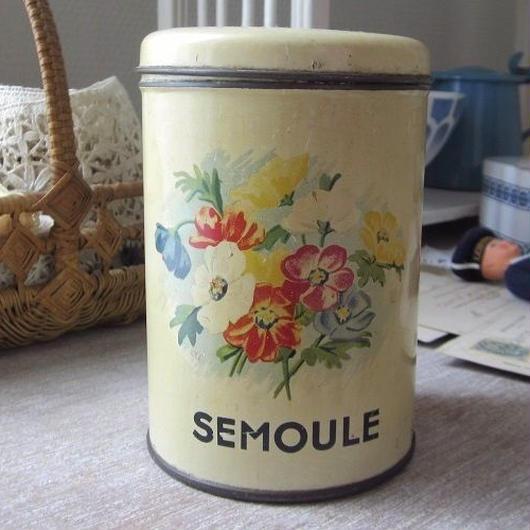 お花と鳥モチーフSEMOULEティン缶