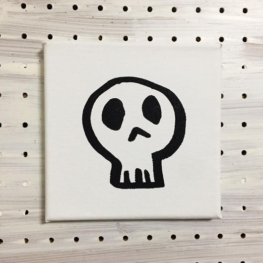 【一点モノハンドメイドART】Calavera Happy Guys, Happy of Wall Surface, No.003
