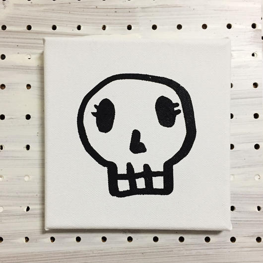 【一点モノハンドメイドART】Calavera Happy Guys, Happy of Wall Surface, No.004