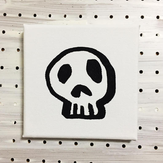 【一点モノハンドメイドART】Calavera Happy Guys, Happy of Wall Surface, No.005