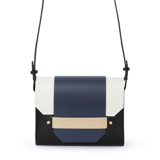 PUZZLE SHOULDER BAG / BLACK