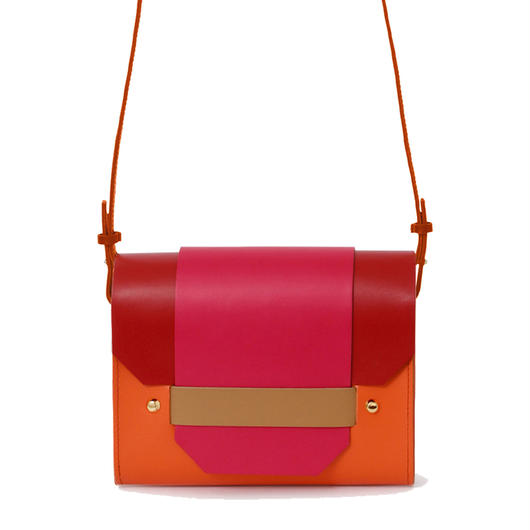 PUZZLE SHOULDER BAG / ORANGE