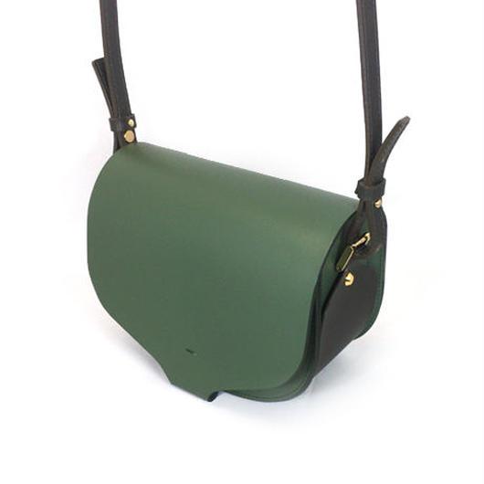 CHASSE BAG / GREEN & DARK BROWN