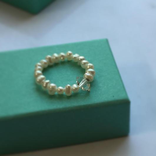 ハ―キマ―ダイヤモンドとパールのリング