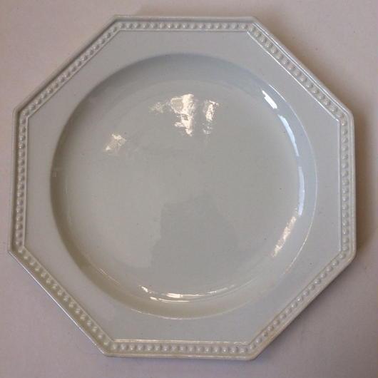 19世紀 モントロー デザートプレート 中皿 オクトゴナル パールリム 1